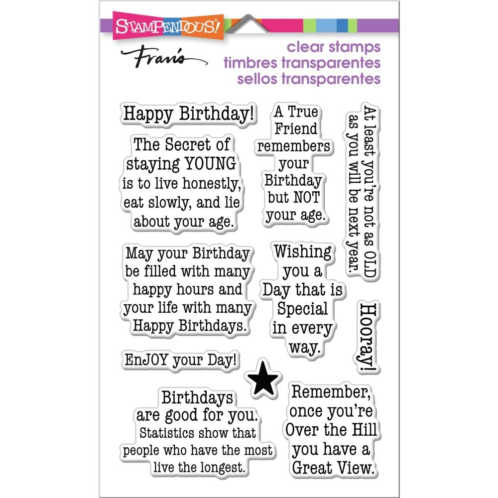 Stampendous Clear Stamps BIRTHDAY AGE ssc1385  zoom image