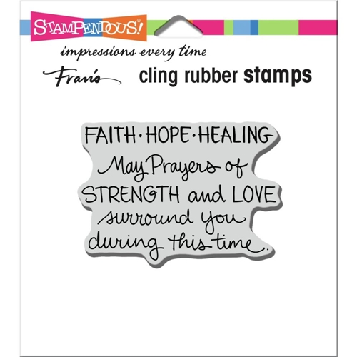 Stampendous Cling Stamp FAITH HOPE HEALING crm349  Preview Image