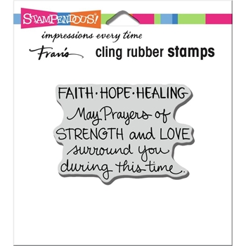 Stampendous Cling Stamp FAITH HOPE HEALING crm349