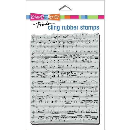 Stampendous Cling Stamp BACKGROUND MUSIC crr338  Preview Image