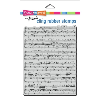 Stampendous Cling Stamp BACKGROUND MUSIC crr338