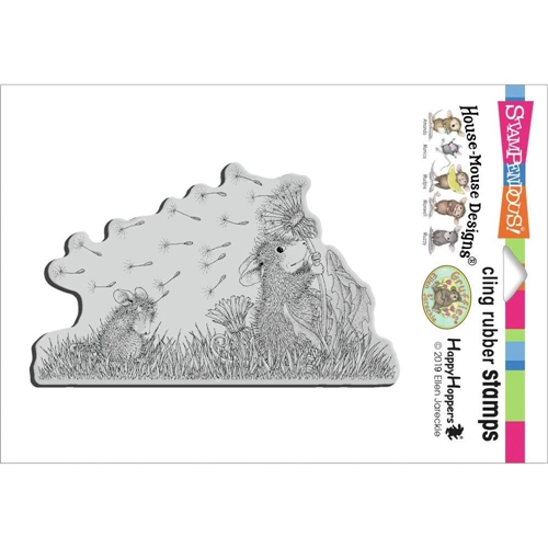 House Mouse Windy Wish Cling Stamp
