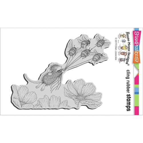 Stampendous Cling Stamp BUMBLE BEE FUN hmcr145 House Mouse Preview Image