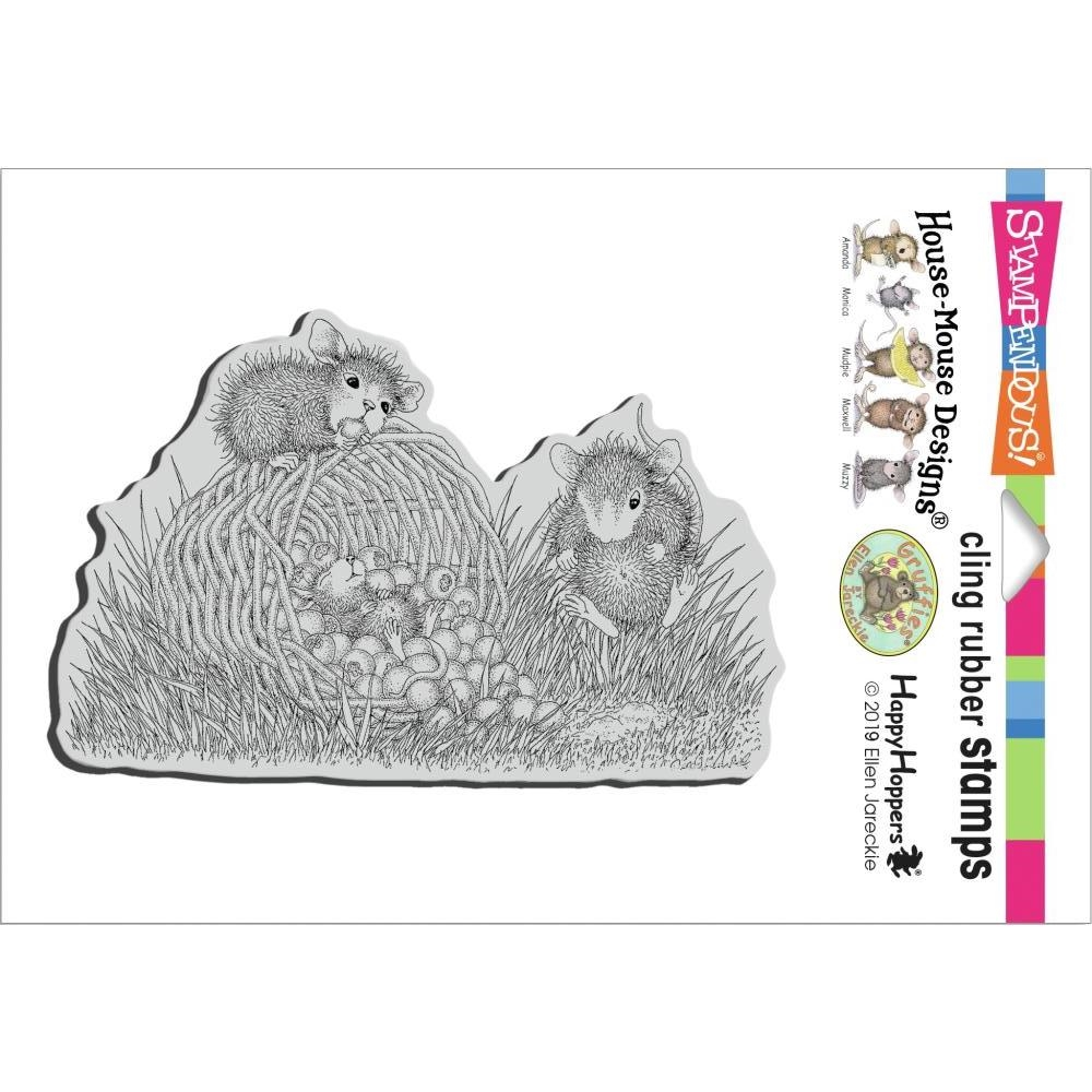 Stampendous Cling Stamp BERRY BASKET hmcp135 House Mouse zoom image