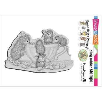 Stampendous Cling Stamp MARSHMALLOW MUNCHING hmcp138 House Mouse