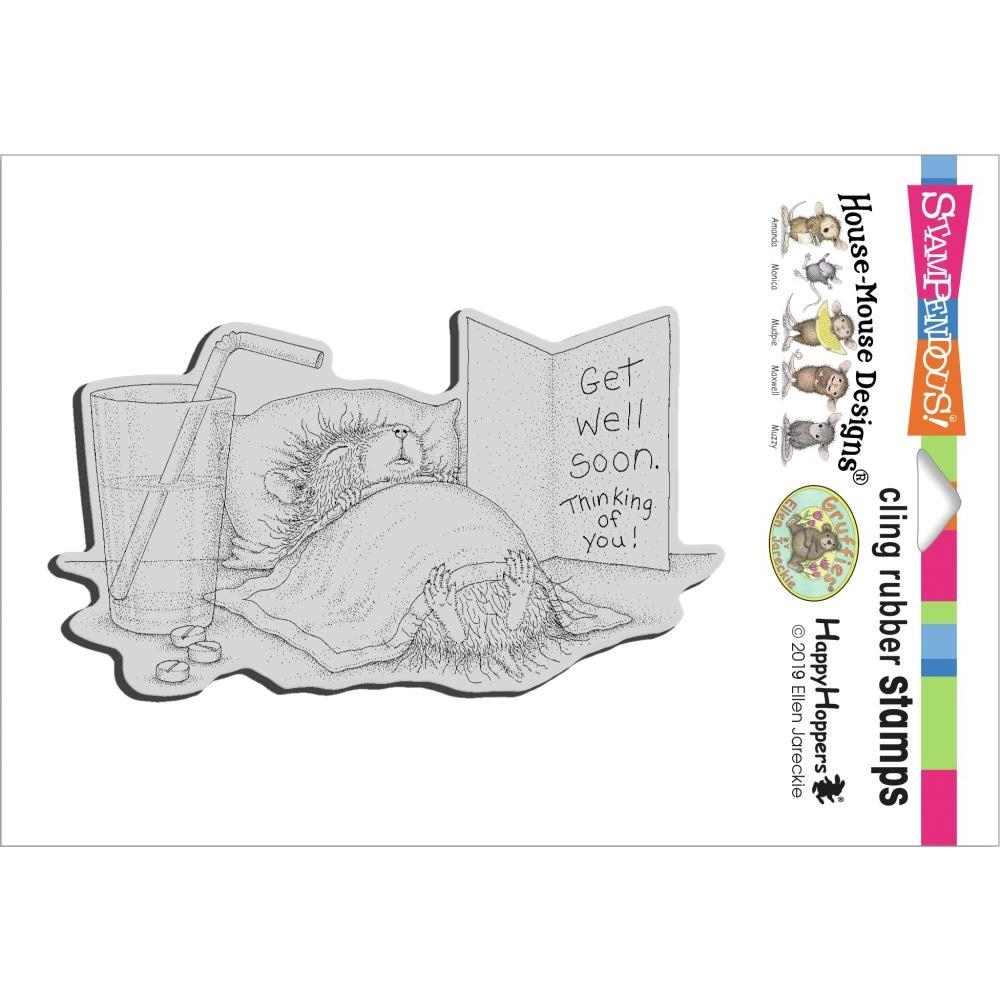 Stampendous Cling Stamp GET WELL SOON hmcp139 House Mouse zoom image