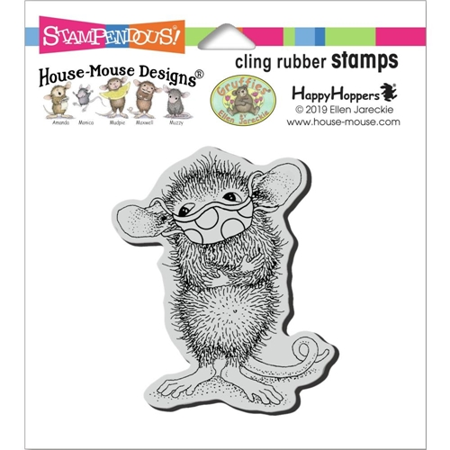Stampendous Cling Stamp MASKED MAXWELL hmcv41 House Mouse Preview Image