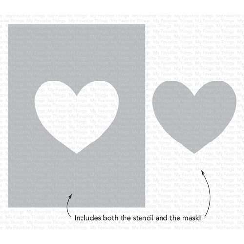 My Favorite Things HEART EXTRAORDINAIRE Stencil st148 Preview Image