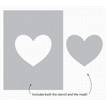 My Favorite Things HEART EXTRAORDINAIRE Stencil st148 **