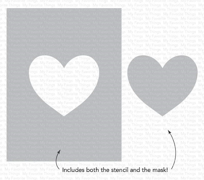My Favorite Things HEART EXTRAORDINAIRE Stencil st148 zoom image