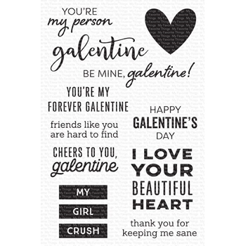 My Favorite Things MY GALENTINE Clear Stamps cs538