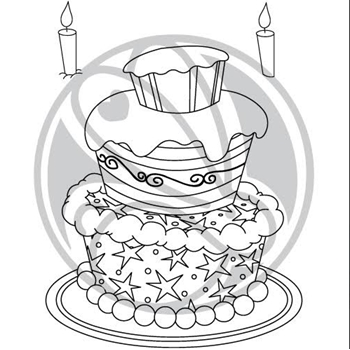 The Rabbit Hole Designs JUST CAKE Clear Stamps TRH 50