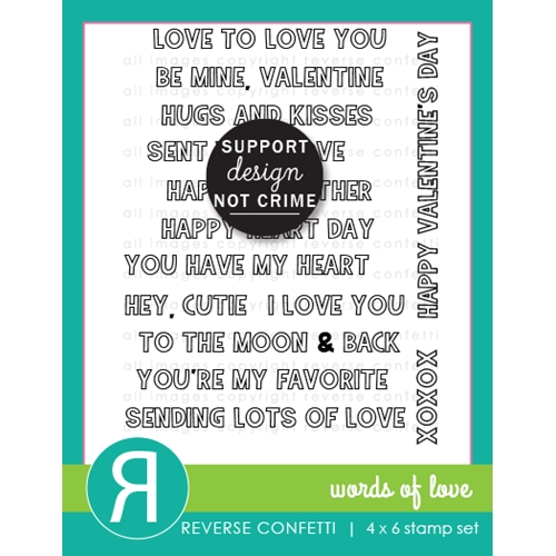 Reverse Confetti WORDS OF LOVE Clear Stamps Preview Image