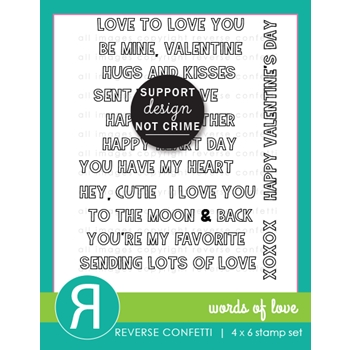 Reverse Confetti WORDS OF LOVE Clear Stamps