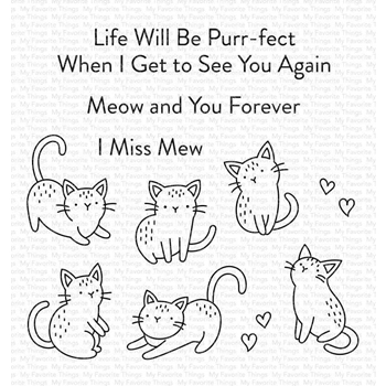 My Favorite Things MINI MEOWS Clear Stamps cs533
