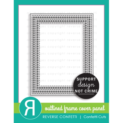 Reverse Confetti OUTLINED FRAME COVER PANEL Die  Preview Image