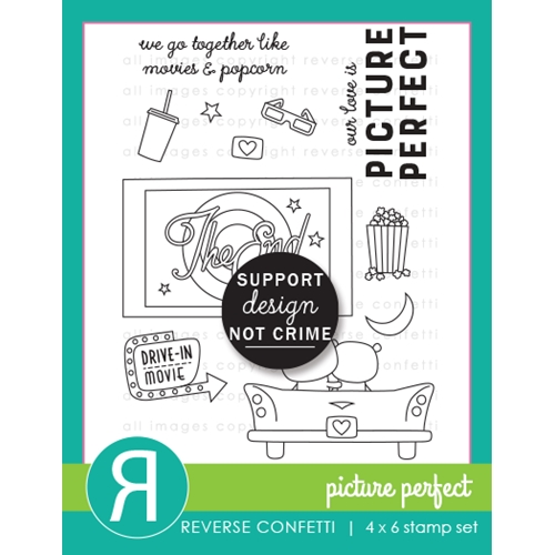 Reverse Confetti PICTURE PERFECT Clear Stamps  Preview Image