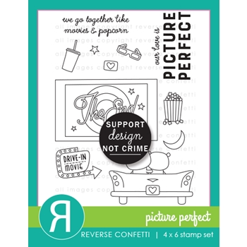 Reverse Confetti PICTURE PERFECT Clear Stamps