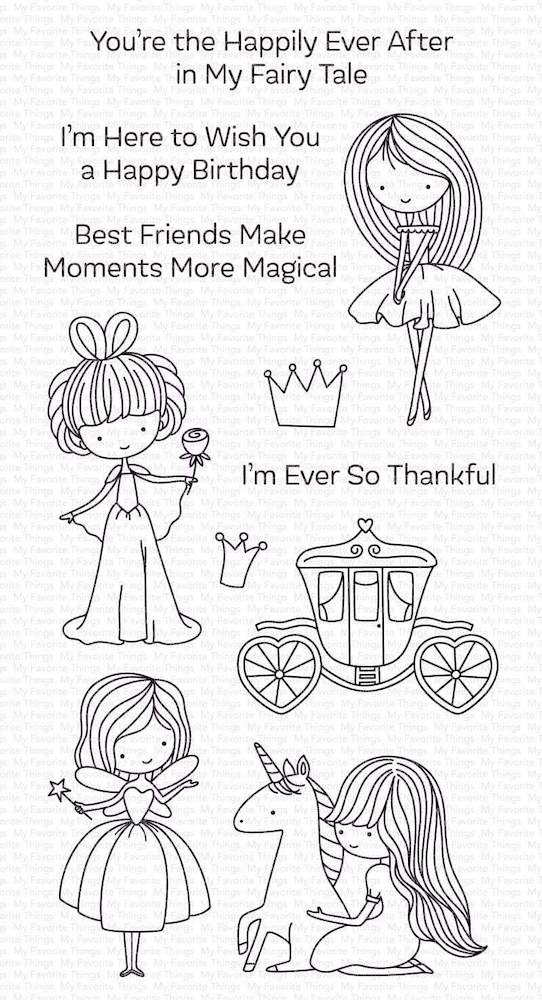 My Favorite Things PRETTY PRINCESS Clear Stamps cs535 zoom image