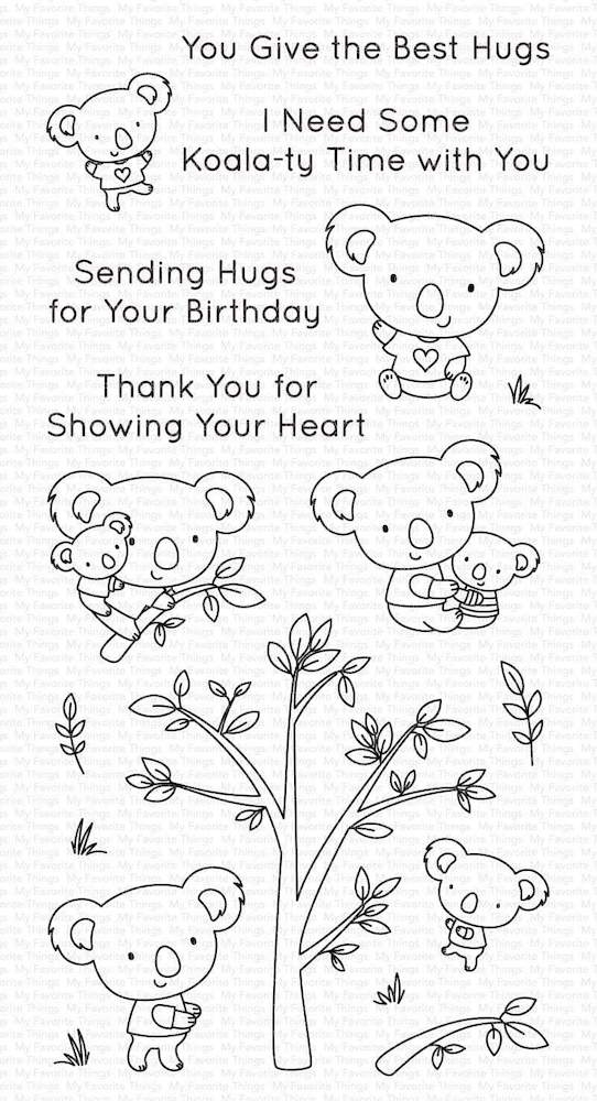 My Favorite Things KOALA-TY TIME Clear Stamps cs536 zoom image