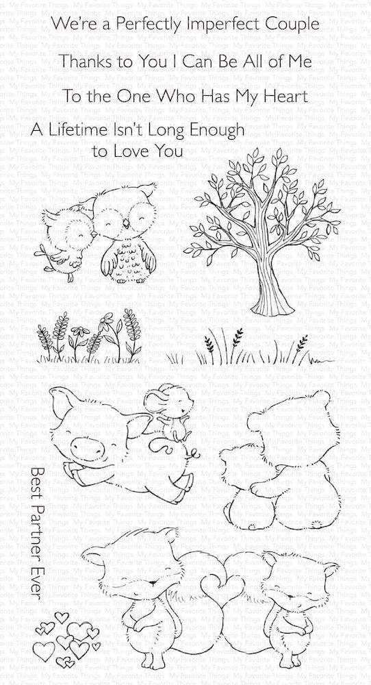 My Favorite Things PERFECT COUPLE Clear Stamps sy28 zoom image