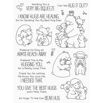 My Favorite Things HUG IT OUT Clear Stamps bb117