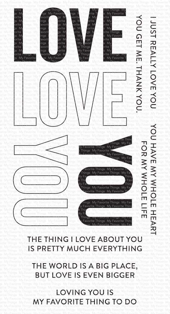 My Favorite Things LOVE YOU BIG TIME Clear Stamps cs537 zoom image