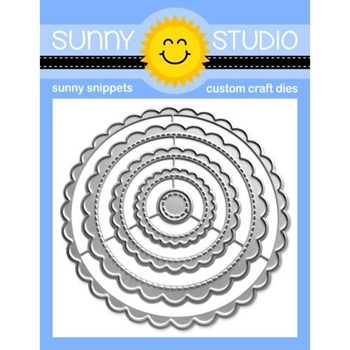 Sunny Studio SCALLOPED CIRCLE MATS 1 Dies SSDIE 230