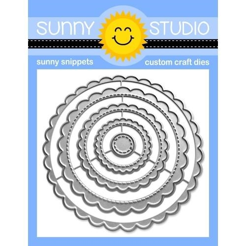 Sunny Studio SCALLOPED CIRCLE MATS 1 Dies SSDIE 230 zoom image