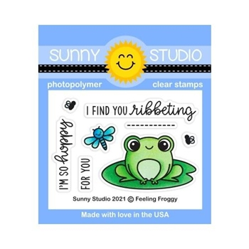 Sunny Studio FEELING FROGGY Clear Stamps SSCL 295