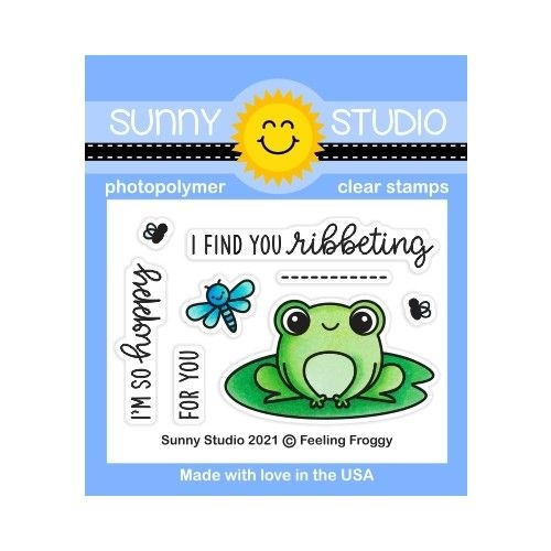 Sunny Studio FEELING FROGGY Clear Stamps SSCL 295 zoom image