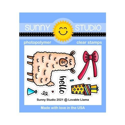Sunny Studio LOVEABLE LLAMA Clear Stamps SSCL 294 Preview Image