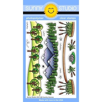 Sunny Studio COUNTRY SCENES Clear Stamps SSCL 292