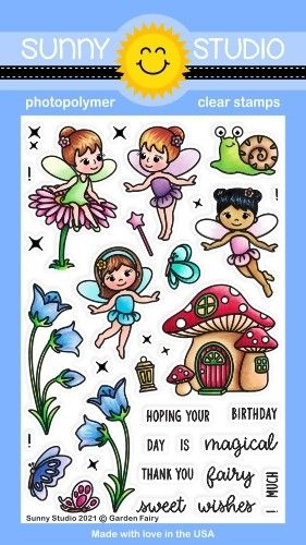 Sunny Studio GARDEN FAIRY Clear Stamps SSCL 285 zoom image