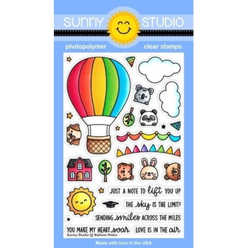 Sunny Studio BALLOON RIDES Clear Stamps SSCL 291