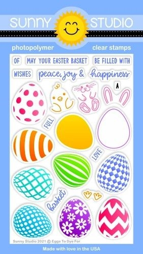 Sunny Studio EGGS TO DYE FOR Clear Stamps SSCL 289 zoom image