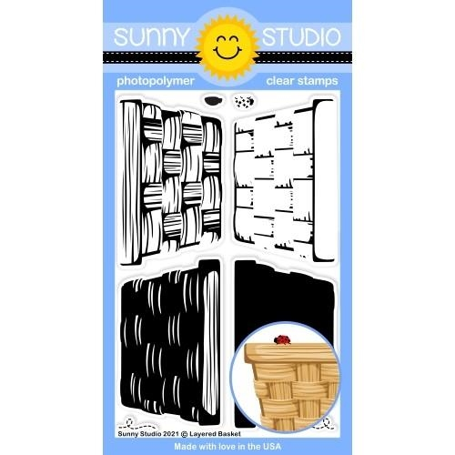 Sunny Studio LAYERED BASKET Clear Stamps SSCL 290 zoom image