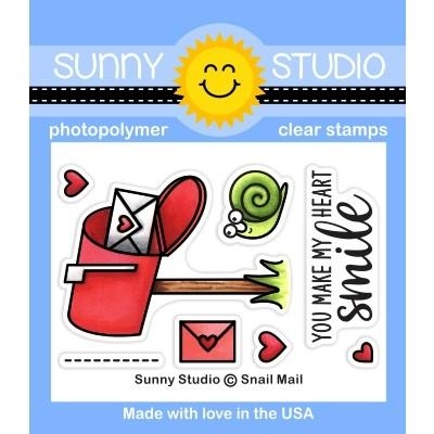 Sunny Studio SNAIL MAIL Clear Stamps SSCL 250 Preview Image