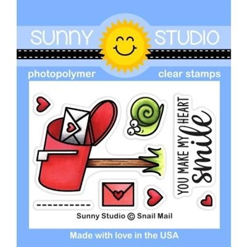 Sunny Studio SNAIL MAIL Clear Stamps SSCL 250