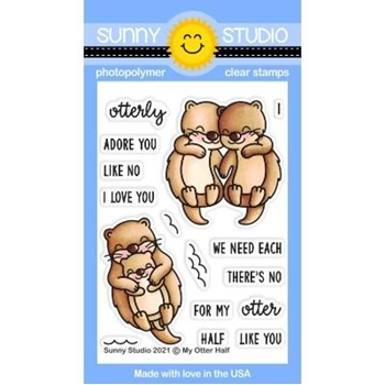 Sunny Studio MY OTTER HALF Clear Stamps SSCL 293