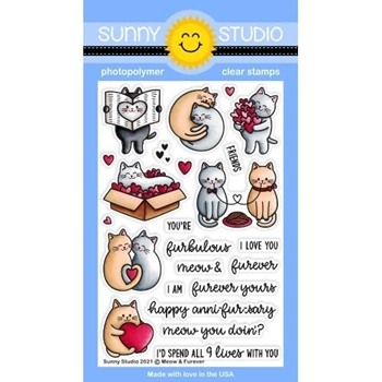 Sunny Studio MEOW AND FOREVER Clear Stamps SSCL 284