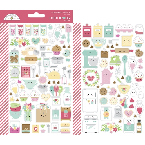 Doodlebug MADE WITH LOVE Mini Icons Cardstock Stickers 7103 Preview Image