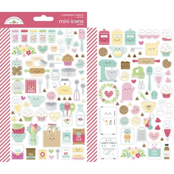 Doodlebug MADE WITH LOVE Mini Icons Cardstock Stickers 7103
