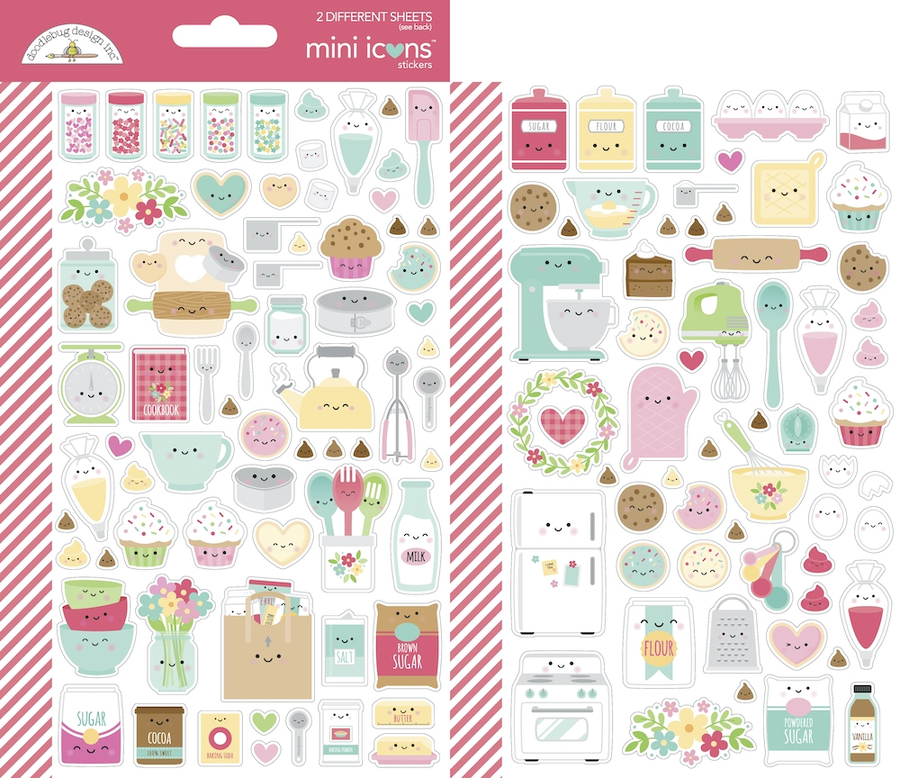 Doodlebug MADE WITH LOVE Mini Icons Cardstock Stickers 7103 zoom image