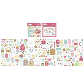 Doodlebug MADE WITH LOVE ODDS AND ENDS Ephemera Die Cut Shapes 7110