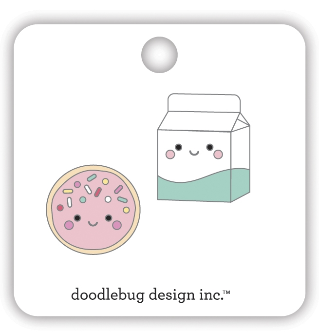Doodlebug COOKIES AND CREAM Collectible Enamel Pins 7109 zoom image