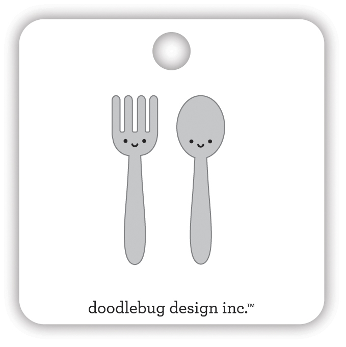 Doodlebug LET'S EAT Collectible Enamel Pins 7108 zoom image