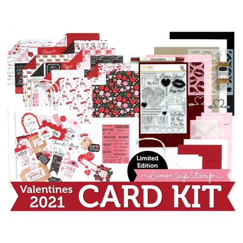 Limited Edition Simon Says Stamp Card Kit FOR MY SWEET Valentine 2021 sssvck21 Preview Image