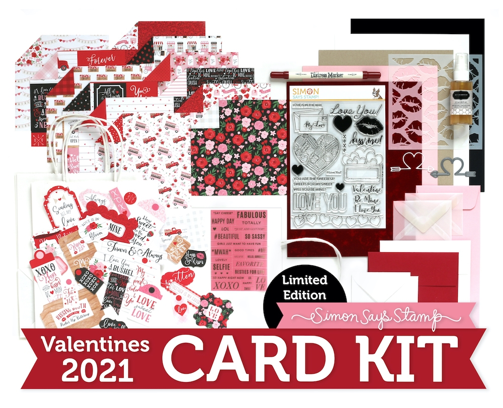 Limited Edition Simon Says Stamp Card Kit FOR MY SWEET Valentine 2021 sssvck21 zoom image