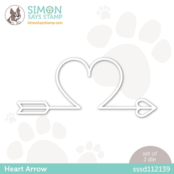Simon Says Stamp HEART ARROW Wafer Die sssd112139